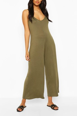 boohoo Maternity Slouchy Strappy Jumpsuit