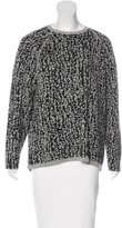 Halston Wool & Cashmere-Blend Intarsia Sweater