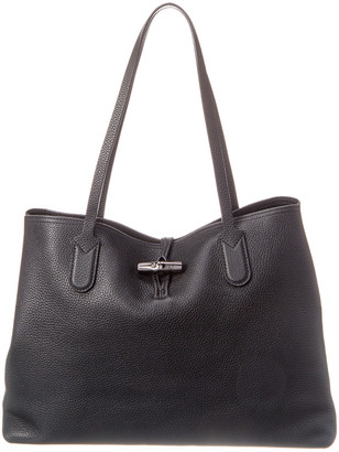 Longchamp Roseau Large Leather Tote