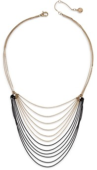 AllSaints Two Tone Draped Chain Necklace, 16