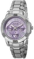 August Steiner Women's AS8143SSPU Silver Quartz Watch with Periwinkle Dial and Silver Bracelet