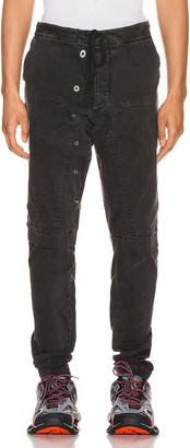 Greg Lauren Stretch Work Pants in Black   FWRD