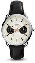 Fossil Tailor Multifunction Black Leather Watch