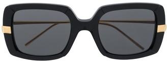 Boucheron Eyewear Two-Tone Oversized-Frame Sunglasses