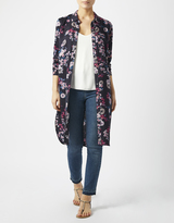 Monsoon Saffron Floral Print Longline Shirt