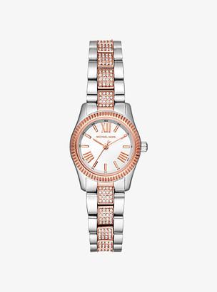 Michael Kors Petite Lexington Pave Two-Tone Watch