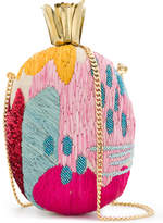 Aranaz pineapple embroidered bag