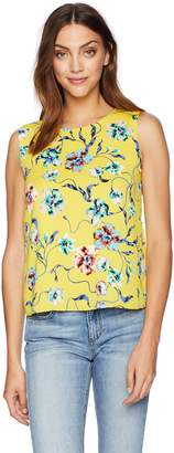 Cooper & Ella Women's Yellow Floral Peony Bow Back Detail Kate Shell Large
