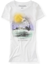 Aeropostale Ocean Spray Paint Graphic T