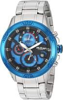 Titan Men's 'Octane' Quartz Stainless Steel Casual Watch, Color:Silver-Toned (Model: 90047KM02)