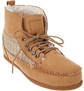 Muk Luks As Is Lily Moccasin Style Short Boot w/Faux Fur