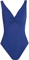 Karla Colletto Twist-front underwired swimsuit
