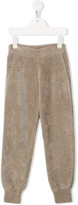 Brunello Cucinelli KIDS textured tracksuit trousers