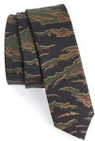 The Kooples Camo Silk Skinny Tie