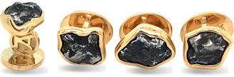 Jorge Adeler Men's Iron Meteorite 18k Gold Stud Set