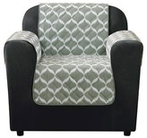 Sure Fit Furniture Flair Ikat Tile Chair Cover Gray