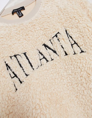 New Look co ord Atlanta teddy sweat in cream