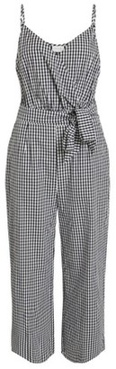 Dorothy Perkins Womens **Vila Black Gingham Print Crop Cotton Jumpsuit, Black