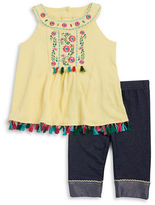 Little Lass Girls 2-6x Embroidered Tunic and Leggings Set