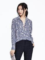 Banana Republic Dillon Fit Long Sleeve Paisly Blouse