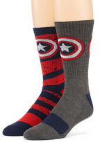 Marvel Captain America 2-pk. Athletic Crew Socks