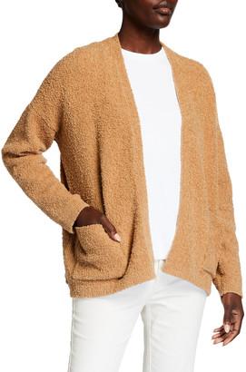 Eileen Fisher Short Organic Cotton Boucle Cardigan