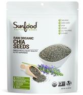 Chia Seeds- Raw Organic by SUNFOOD SUPERFOODS (1lb)