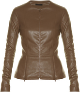 The Row Anasta collarless leather jacket