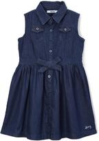DKNY Dark Wash Denim Shirt Dress - Girls