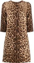 Dolce & Gabbana leopard print mini shift dress
