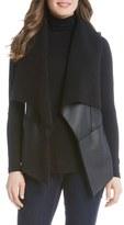 Karen Kane Women's Faux Shearling Drape Front Vest