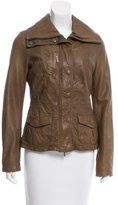 Vince Distressed Leather Jacket