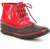 Sorel Women's Out N About Patent Leather Lace Up Waterproof Booties
