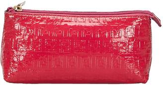 Fendi Pink Zucchino Patent Leather Pouch