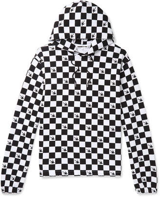 McQ Checkerboard Loopback Cotton-Jersey Hoodie
