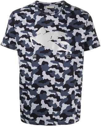 Etro Pegaso camouflage print T-shirt