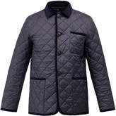 Gloverall Navy Quilted Button Down Car Coat