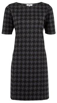 Dorothy Perkins Womens **Tall Grey Dogtooth Checked Shift Dress, Grey