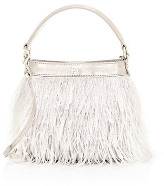 Eric Javits Shindig Ostrich Feather Top Handle Bag