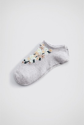 Witchery Floral Sneaker Sock