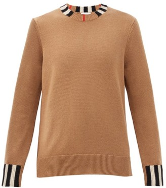 Burberry Eyre Icon-striped Cashmere Sweater - Beige