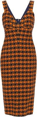 Victoria Beckham Striped Cloque-jacquard Dress