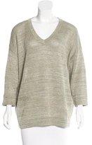Brunello Cucinelli Linen Metallic Sweater