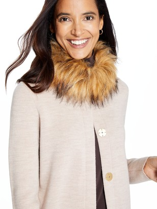J.Mclaughlin Veronique Cardigan with Faux Fur Collar