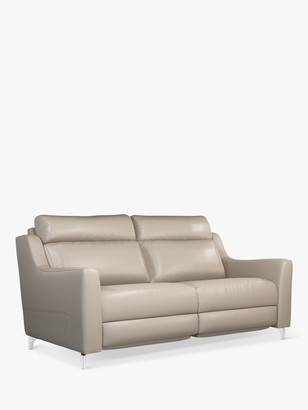 John Lewis & Partners Elevate Large 2 Seater Leather Sofa, Metal Leg
