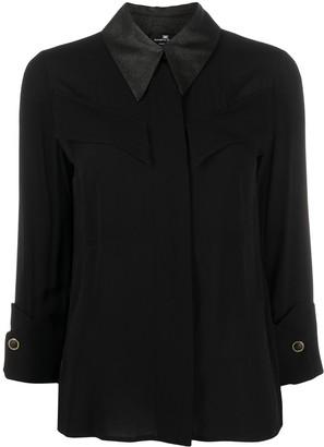 Elisabetta Franchi Contrasting Collar Shirt