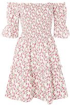 Topshop Limited edition print rose bardot dress made from liberty fabric
