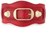Balenciaga Classic Leather Single-Strap Bracelet