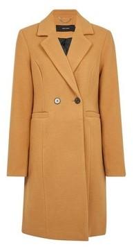 Dorothy Perkins Womens **Vero Moda Tan Button Coat