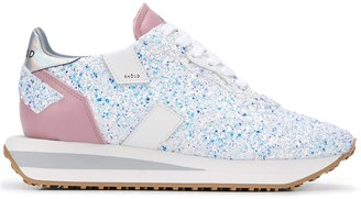 Ghoud Wedge Sole Glitter Sneakers